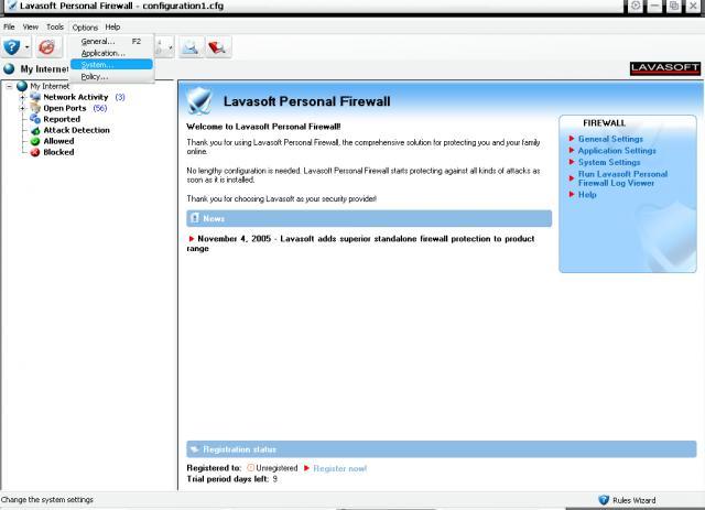 Lavasoft Personal Firewall
