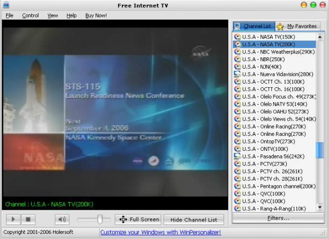 Free Internet TV download