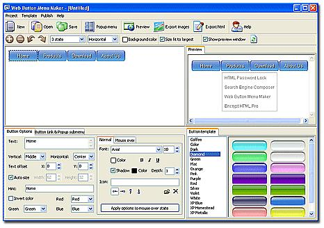 Web Button Menu Maker download