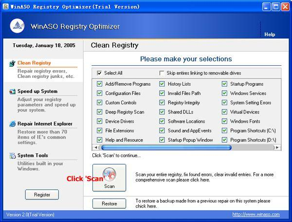 WinASO Registry Optimizer download
