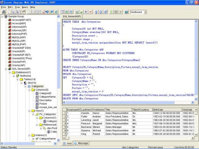 Web DB Explorer