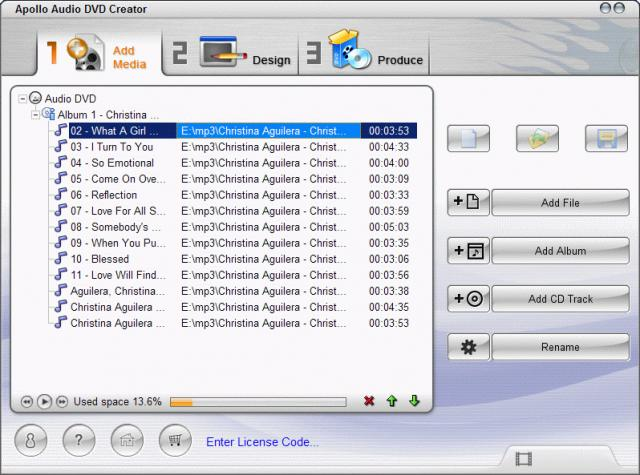 Apollo Audio DVD Creator
