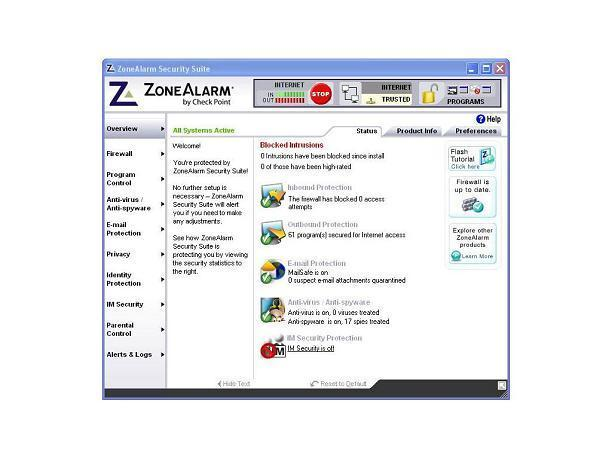 ZoneAlarm extreme security download