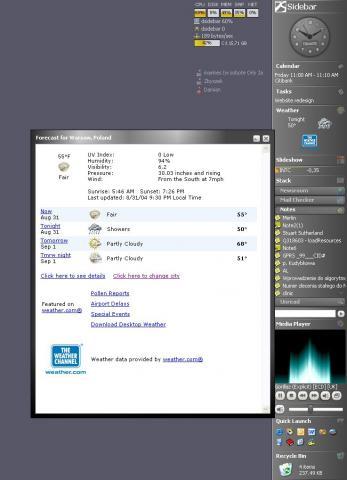 Desktop Sidebar