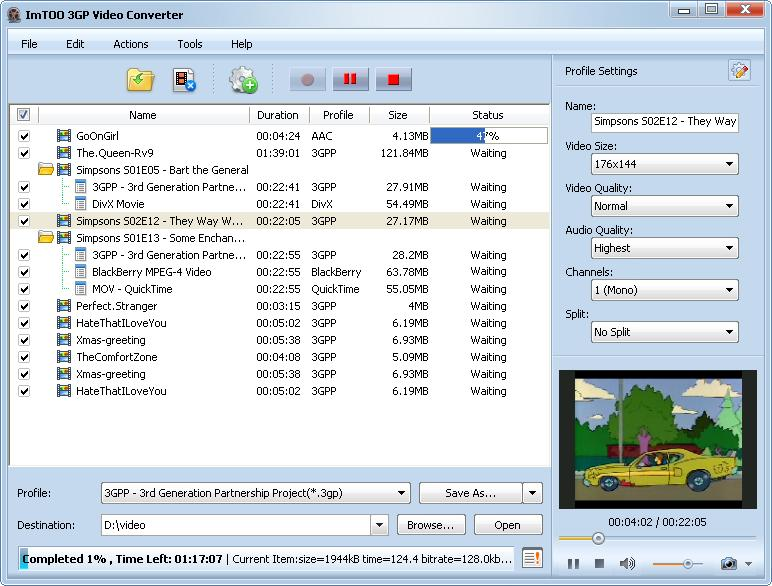 ImTOO 3GP Video Converter download
