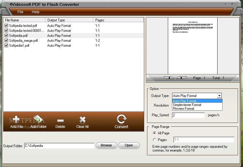 4Videosoft PDF to Flash Converter