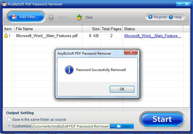 AnybizSoft PDF Password Remover download
