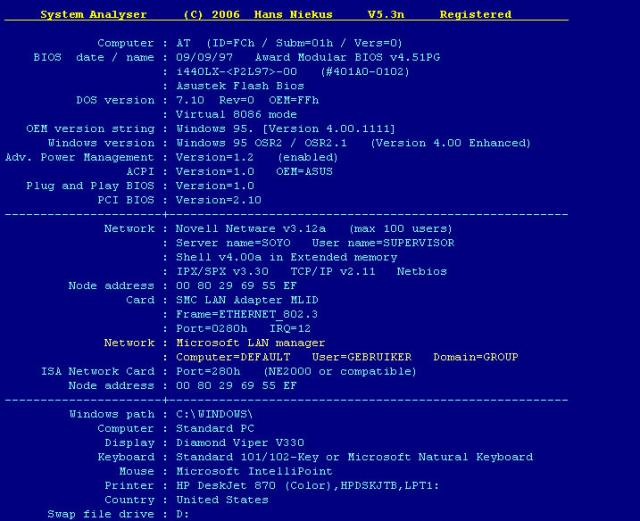 System Analyser download
