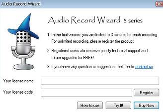 Audio Record Wizard
