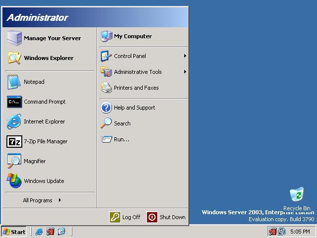 Windows Server 2003 Service Pack 1