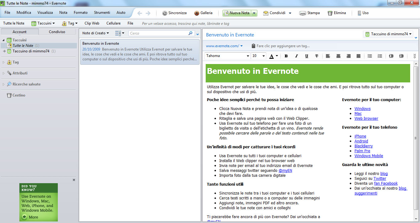 Evernote download