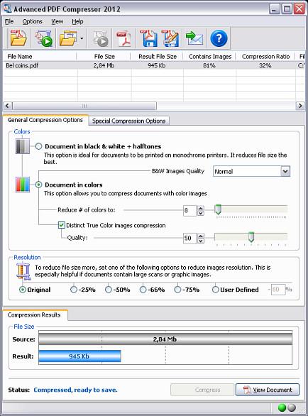 Advanced PDF Compressor