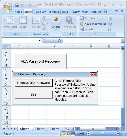 Excel Tool VBA Password Recovery download