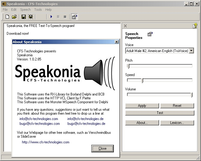 Speakonia download