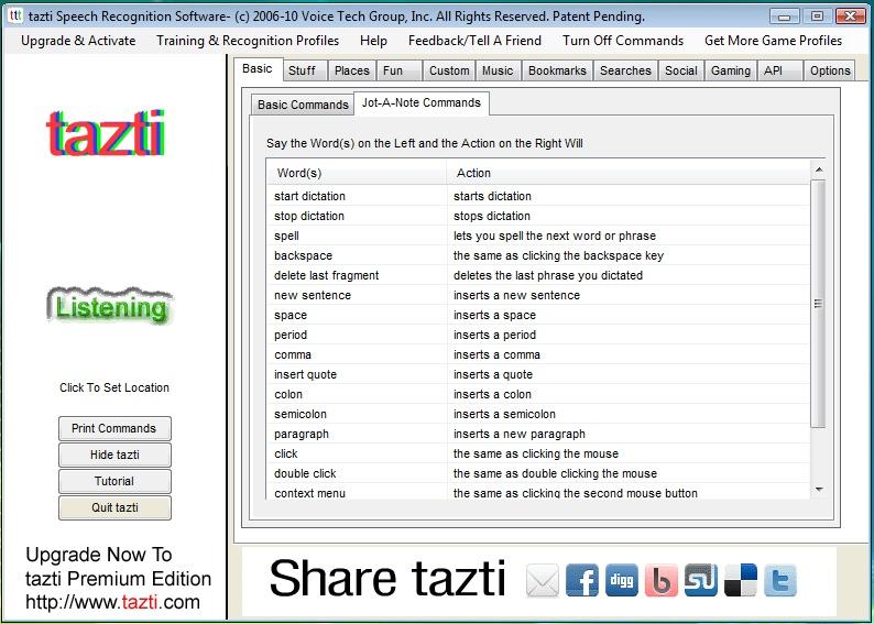 Tazti Speech Recognition Software
