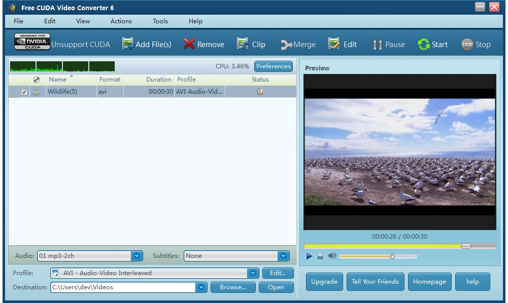 Free CUDA Video Converter download