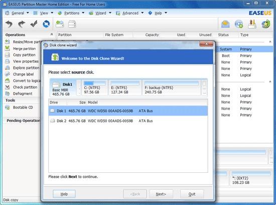 EaseUS Disk Copy Home Edition