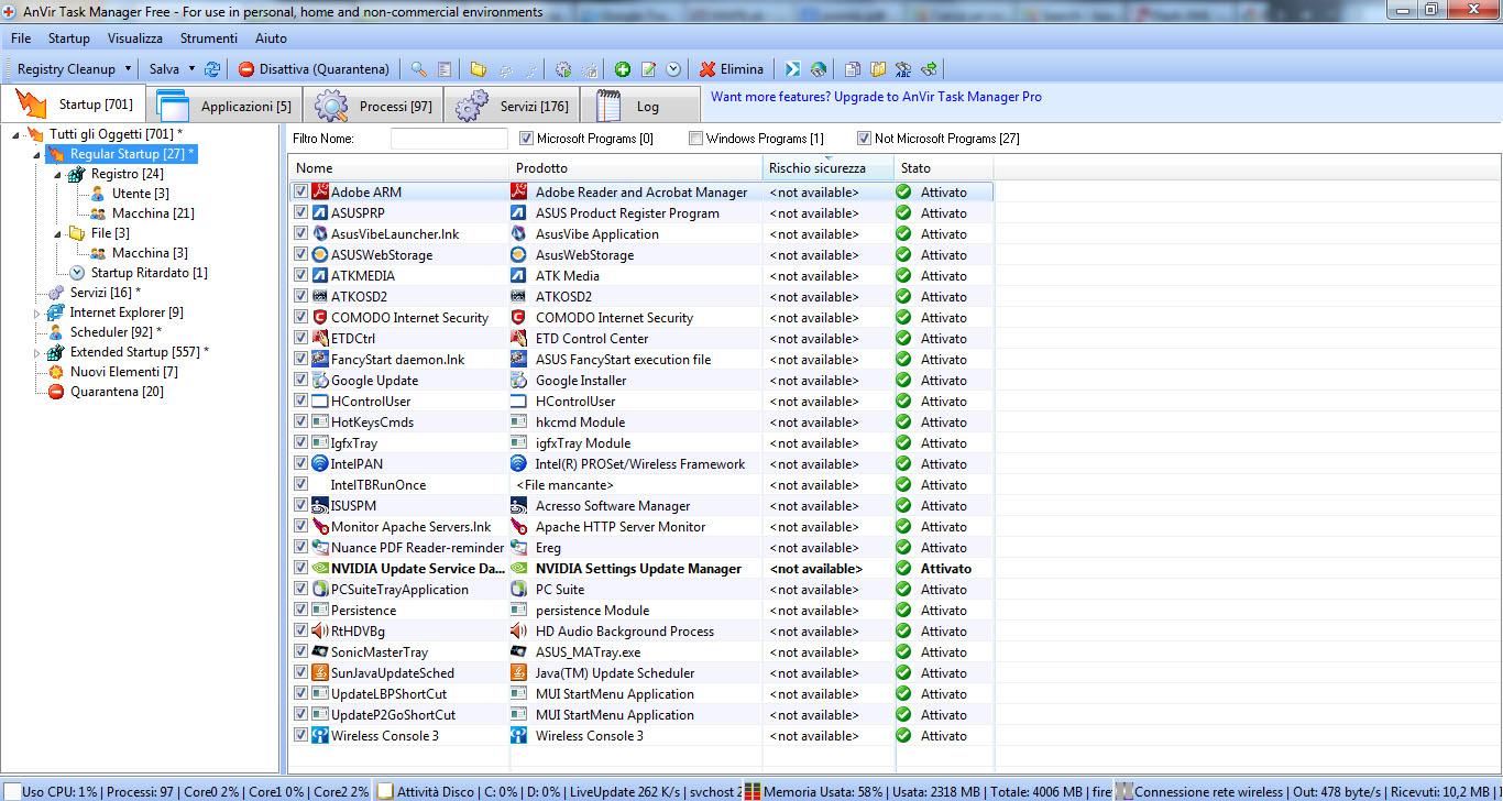 AnVir Task Manager Free