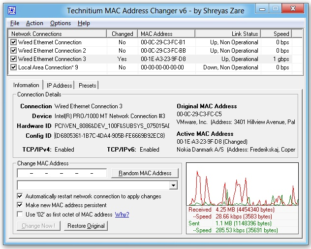 Technitium MAC Address Changer