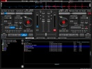 Virtual DJ Schermata con browser