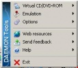 Daemon Tools Il menu da cui potrete gestire tutte le funzioni