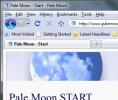 Pale Moon Barra degli strumenti