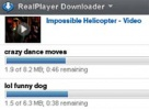 RealPlayer Finestra dei download