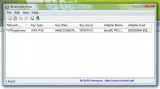 WirelessKeyView Finestra del programma in Windows 7
