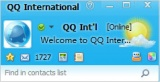 QQ International Login nel pannello di chat