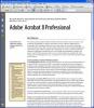Adobe Acrobat L'interfaccia principale del programma
